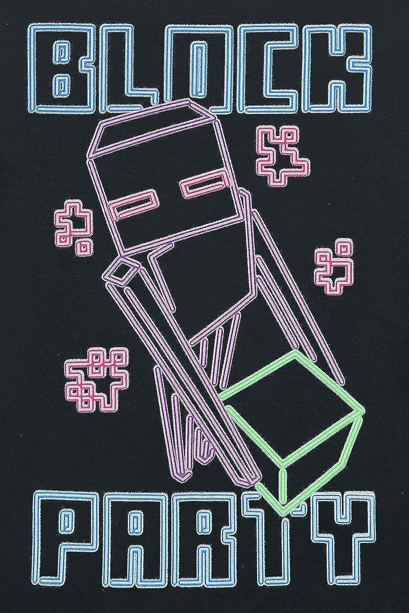 Block Party Kinder /& Babies T-Shirt schwarz 140 Minecraft Enderman