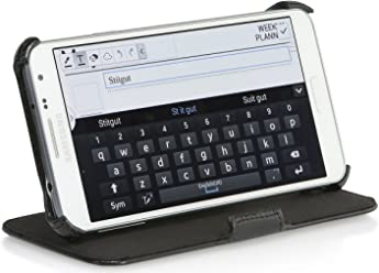 StilGut Housse UltraSlim V2 avec Fonction de Support et de présentation pour Samsung Galaxy Note 5, en Noir Vintage