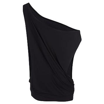 Spokey Puff Blusa de la Mujer, Puff, Mujer, Color Negro, tamaño Talla