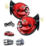 MKIING 300DB Super Loud Train Horn for Truck Train Boat car Air Electric Snail Single Horn,12v Waterproof Motorcycle…
