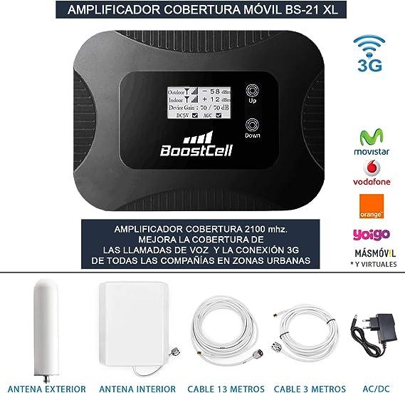 Amplificador Cobertura MOVIL Llamadas + 3G Zonas URBANAS (Omni-Panel)