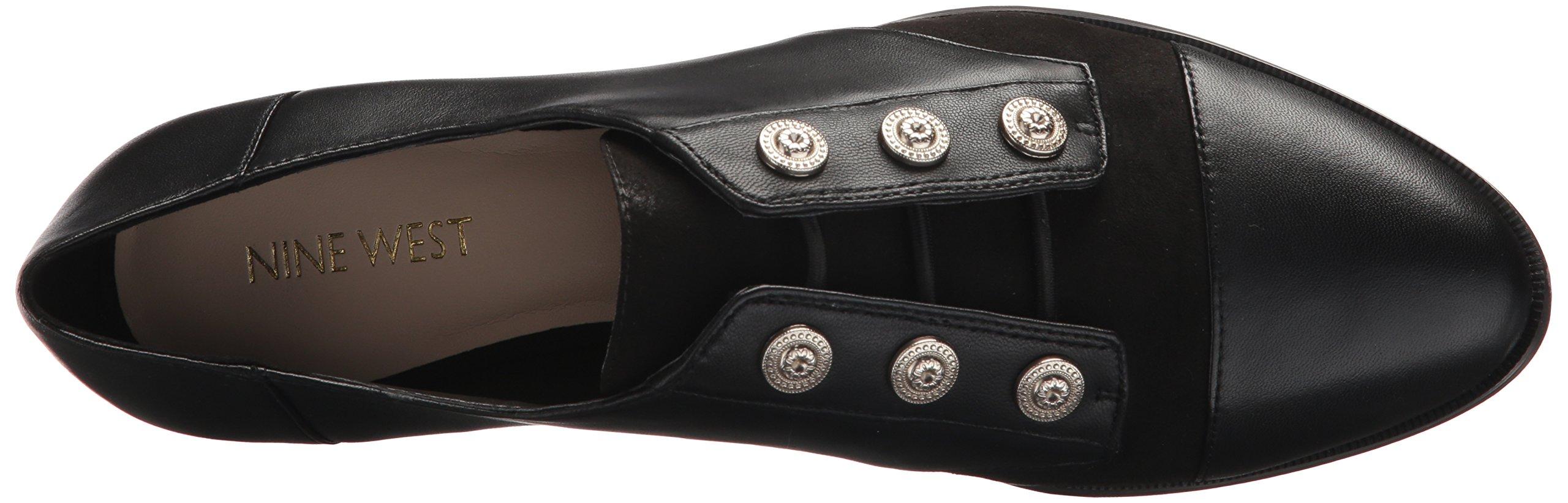 Nine West Women's Here Leather Uniform Dress Shoe, Black/Multi Leather, 5 M US by Nine West (Image #8)