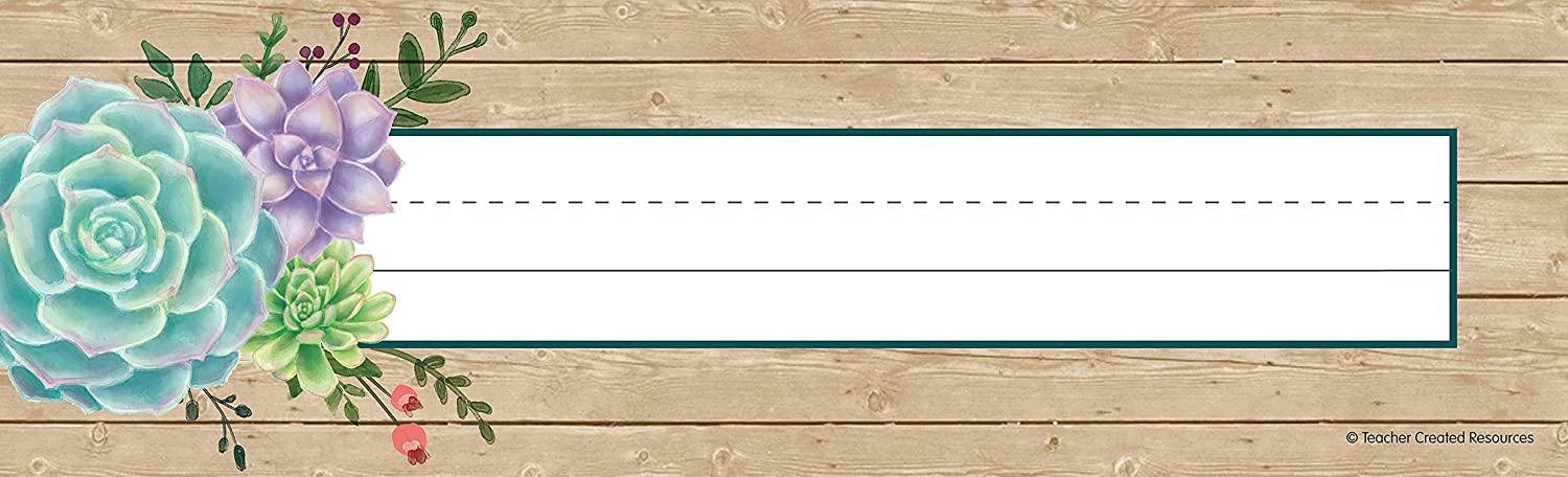 Teacher Created Resources Rustic Bloom Name Plates (TCR8555)