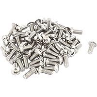M5 Tornillos de cabeza de boton - TOOGOO(R)M5x12mm