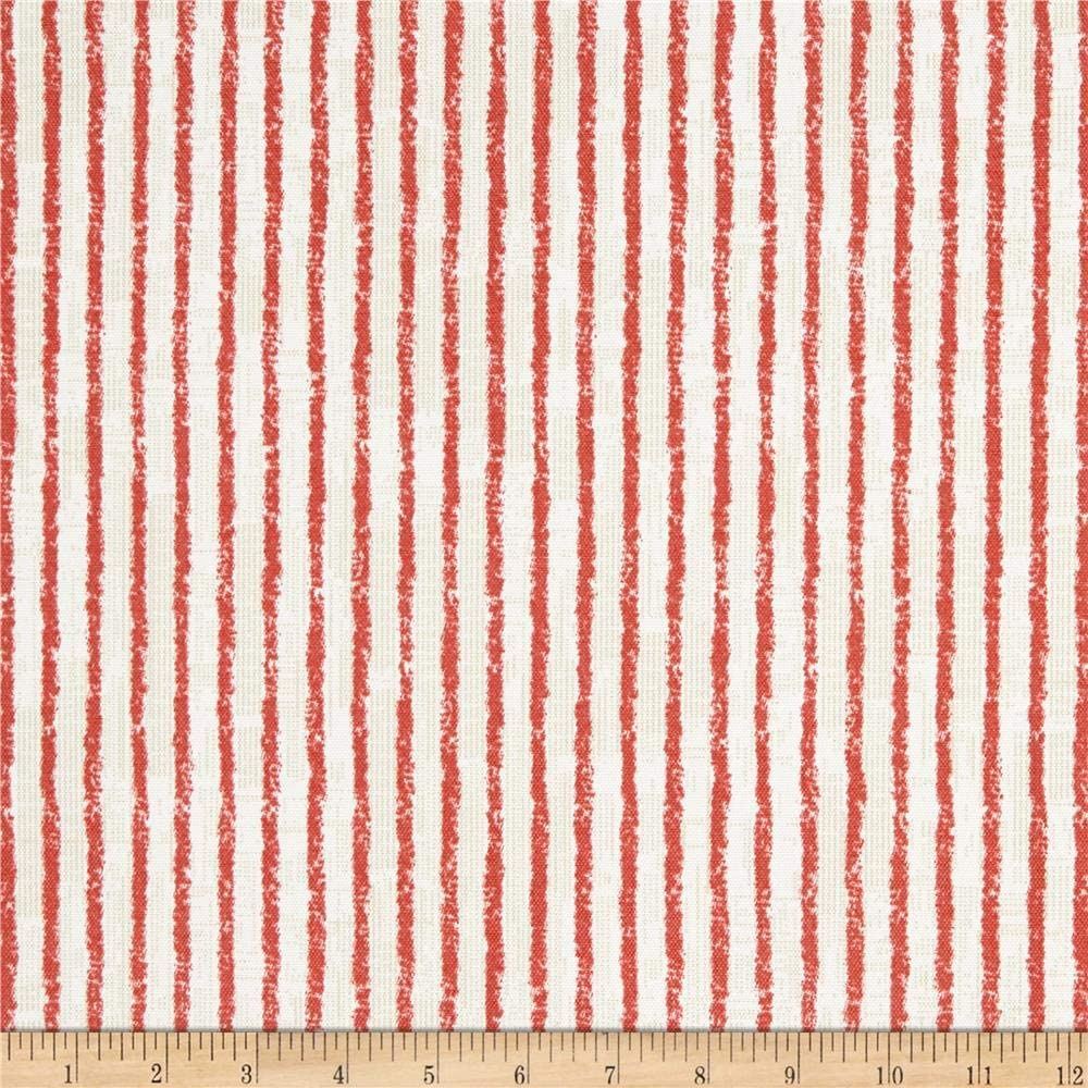 Magnolia Home Fashions Home Outdoor Duval Red Fabric Fabric by the Yard