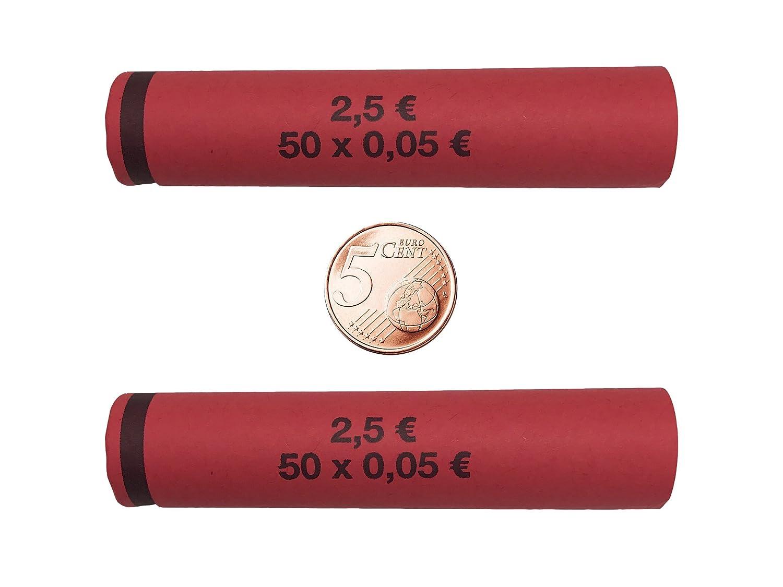3714 Münzhülsen Münzhülsen Münzhülsen vorgefertigt und gerollt - 5 Cent (2000 Stück) 818a2c