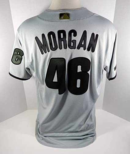 2018 Philadelphia Phillies Adam Morgan  46 Game Used Grey Memorial ... 67f08ba8c79