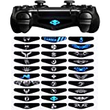 eXtremeRate® Light Bar Decal Stickers Set of 30 Different Pcs for Playstation 4 PS4 PS4 Slim PS4 Pro Controller - Mix Stickers