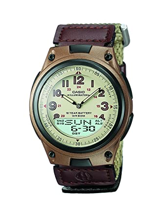 e0a92fd70a76 Buy Casio Youth Analog-Digital Beige Dial Men s Watch - AW-80V-5BVDF  (AD125) Online at Low Prices in India - Amazon.in