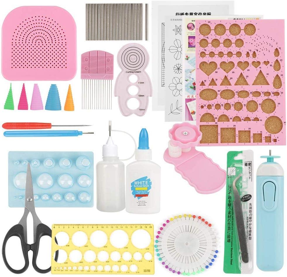 24 piezas de bricolaje Quilling de papel con ranuras, juegos de arte, decoración artesanal (color al azar)