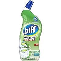 Biff WC Total Reiniger Gel Pro Nature Mint eucalyptus geur, wc-reiniger, met 90% ingrediënten van natuurlijke oorsprong…