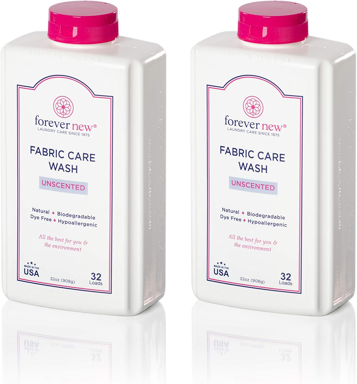 Forever New Granular Fabric Care Wash Unscented (64oz (2pack) Natural Laundry Detergent