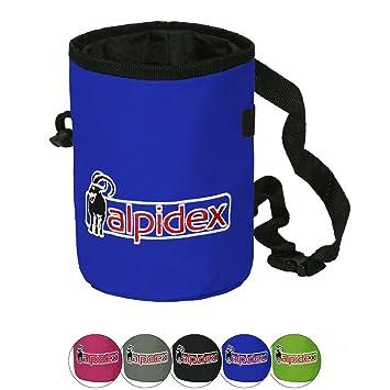 ALPIDEX Bolsa de magnesio con cinturón Highfly, Color:Blue Night: Amazon.es: Deportes y aire libre