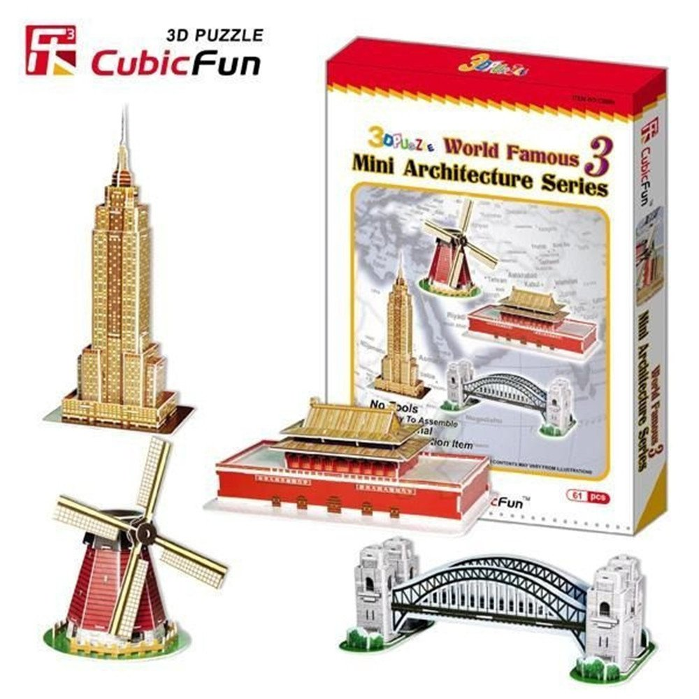 Lelifang kids toys Enlightenment series of 3D paper C086H mini world famous architectural collection