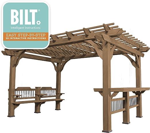 Backyard descubrimiento Oasis 14 x 10 Pergola Cedar Pergola ...