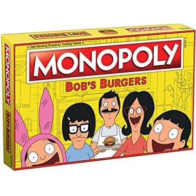 Monopoly Bobs Burgers Board Game | Themed Bob Burgers TV Show Monopoly Game | Officially Licensed Bob's Burgers Game: Game: Toys & Games