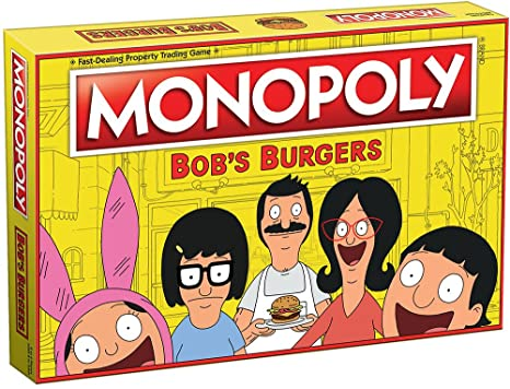 Amazon Monopoly Bobs Burgers Board Game Themed Bob Burgers Tv