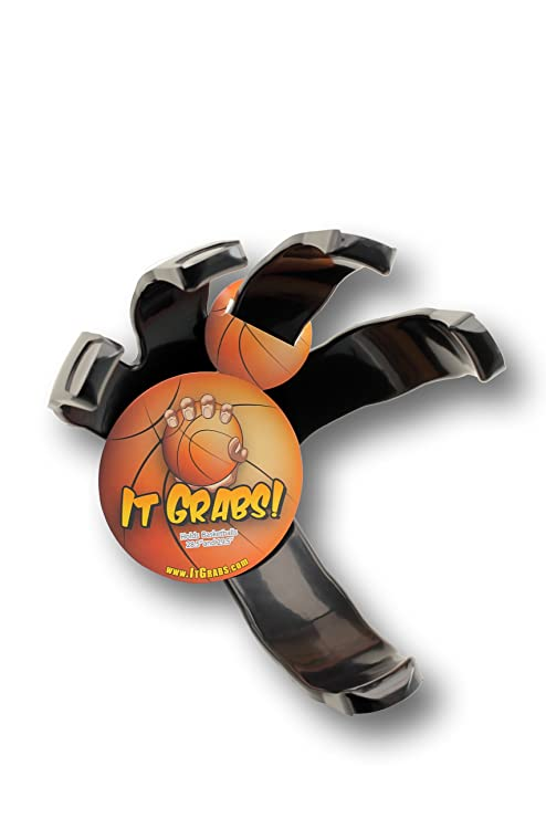 It Grabs Baloncesto Deportes Pelota Soporte Mano Pinza para, Negro ...