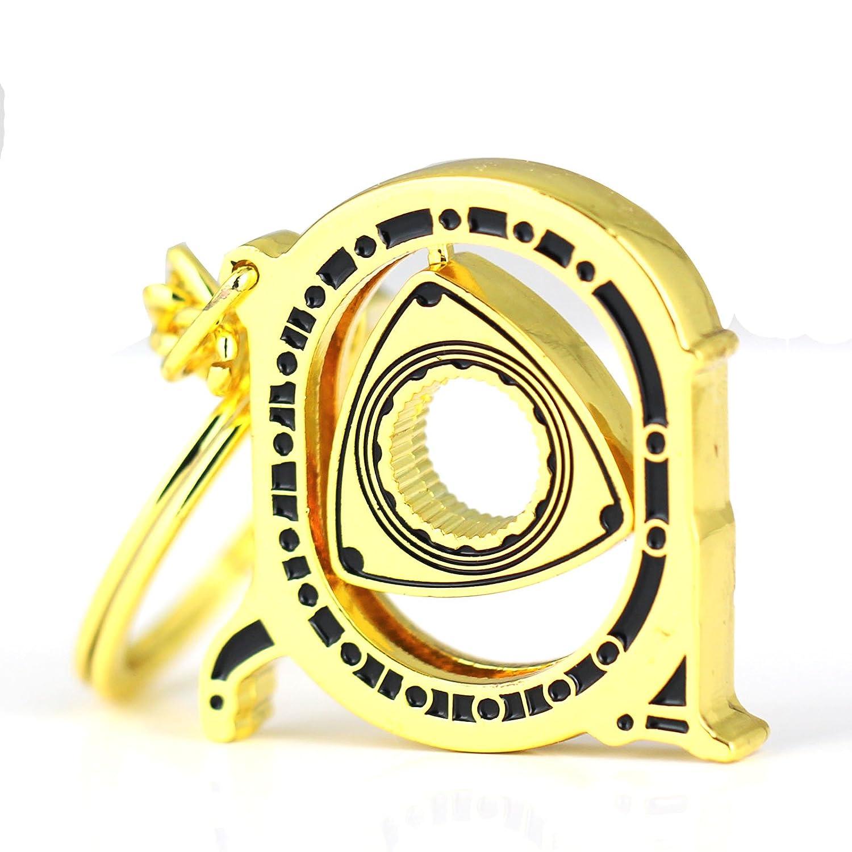 Maycom® New HOT Spinning Rotor Keychain Creative Car Fans Favorite Auto Parts Model Gunmetal Engine Rotary Keyring Key Ring Chain Keychain Keyfob 86122-2