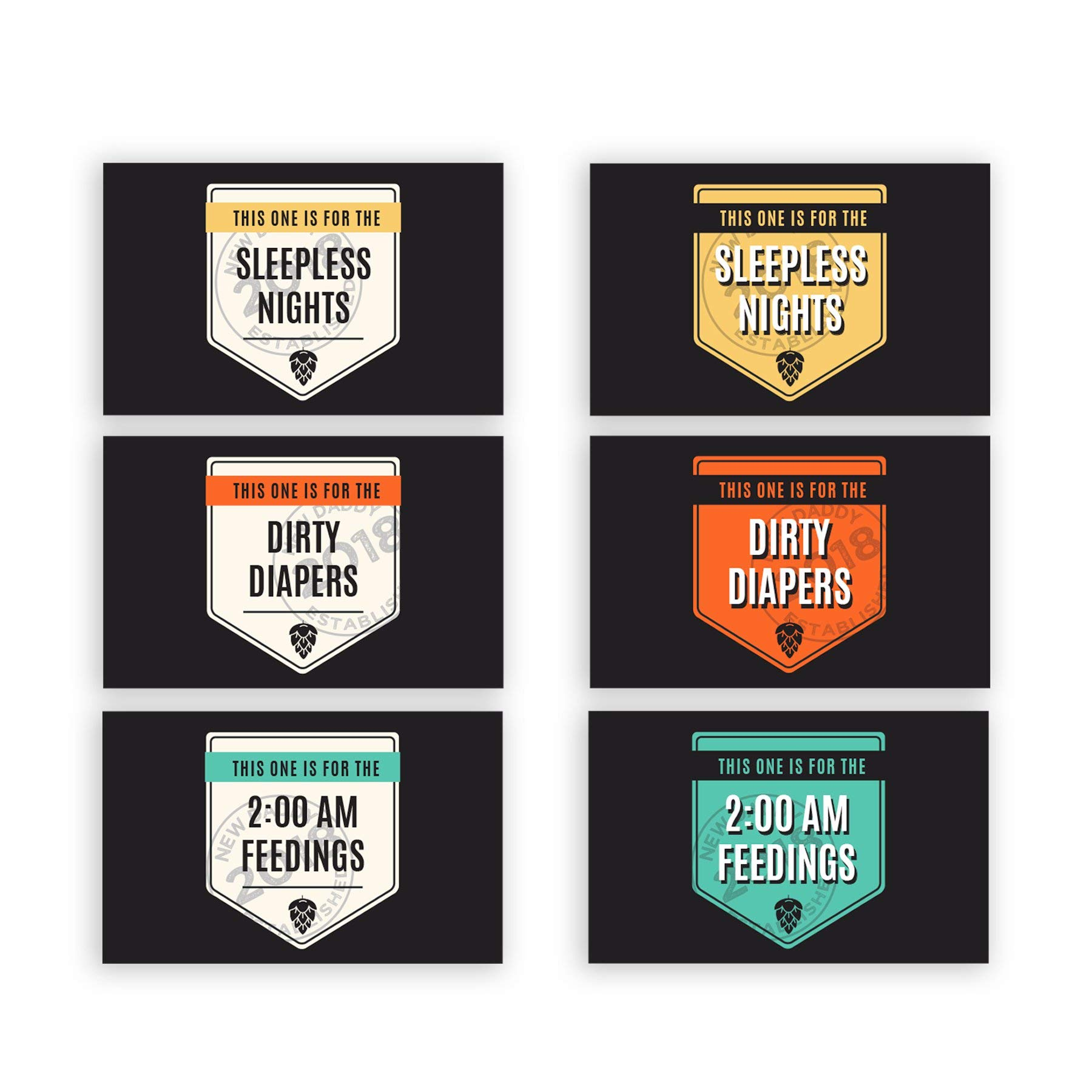 GiftsForYouNow New Dad Survival Kit Personalized Beer Labels and Carrier Set by GiftsForYouNow (Image #2)