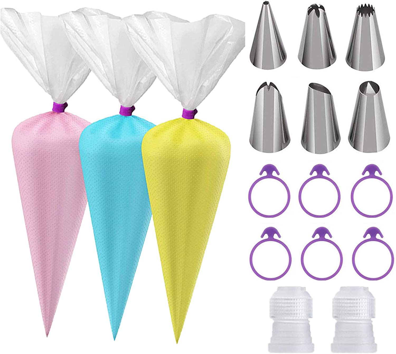 100Pcs 12 Inch Pastry Bags Disposable, Pastry Piping Bags and Tips Disposable, Large Disposable Icing Bags