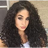 Rechoo Lace Front Wigs Thick Full For Afrian American Synthetic Lace Front Wig Loose Curly Hair Hairline With Baby Hair With Soft Swiss Lace Cap 20Inch