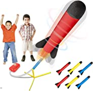 Play22 Toy Rocket Launcher - Jump Rocket Set Includes 6 Rockets - Play Rocket Soars Up to 100 Feet - Missile Launcher Best G