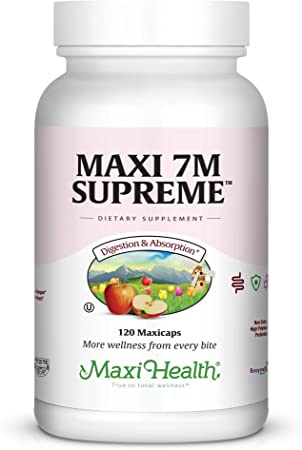 Maxi Health 7M Supreme High Potency Probiotic Acidophilus Formula, 120 Count