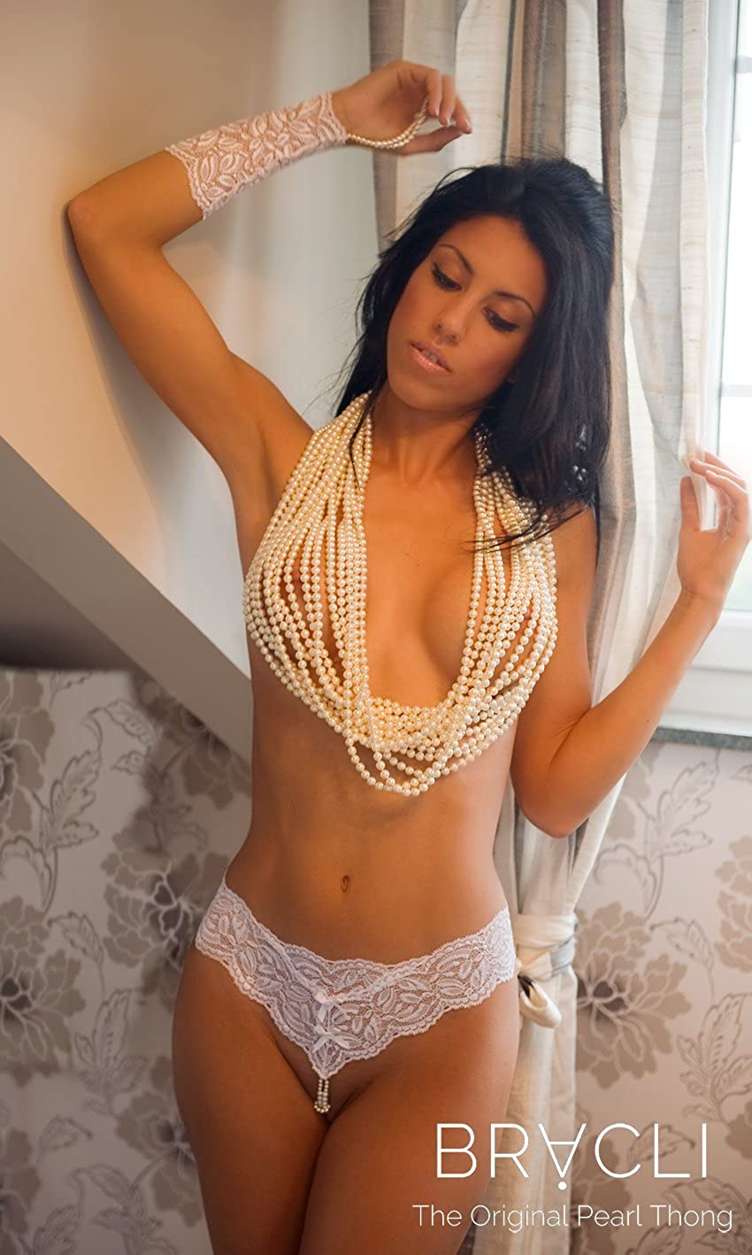 0620350fd2a Bracli Paris Collection Double Strand Pearl Thong  Amazon.ca  Clothing    Accessories
