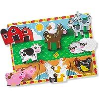 Melissa & Doug 3723 Farm Wooden Chunky Puzzle (8 pcs)