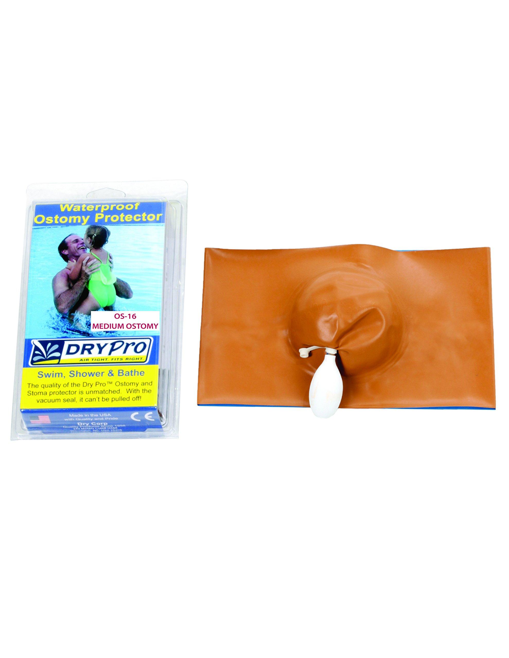 DryPro Waterproof Vacuum Sealed Ostomy Cover, Medium by DryCorp