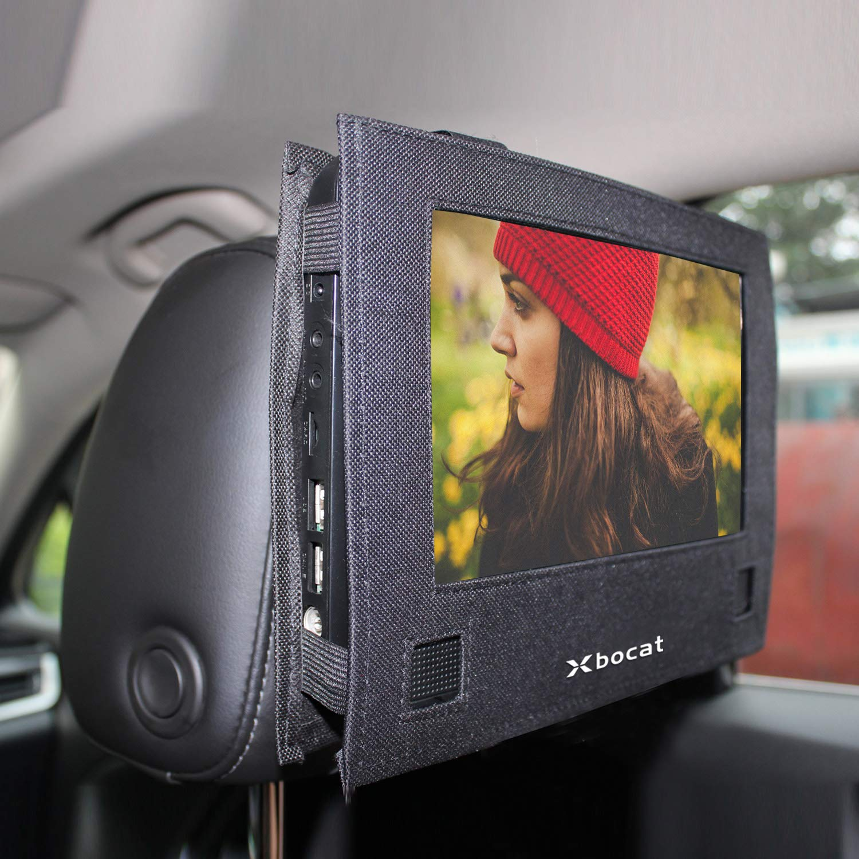 Car Headrest Mount for Swivel & Flip Style Xbocat Portable DVD Player - 10 to 10.5 inch