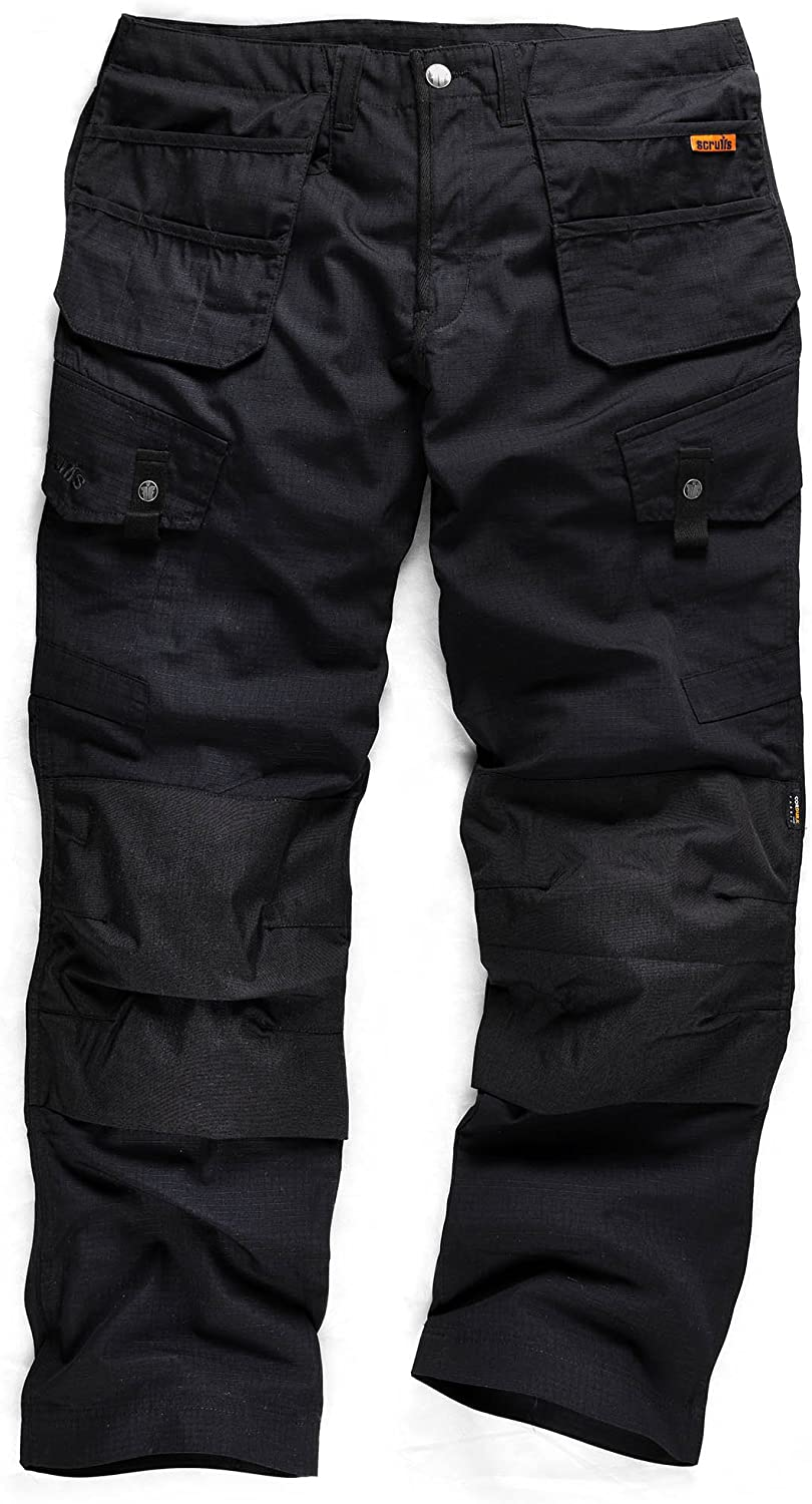 "Scruffs Black Worker Combat Shorts 30/"" Waist"