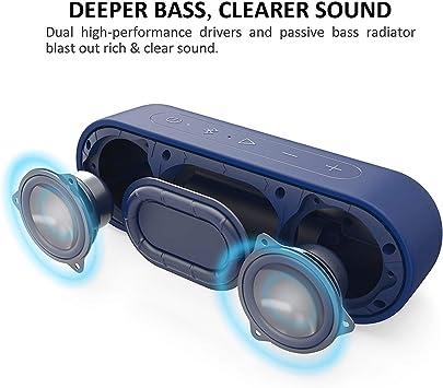 Enceinte Bluetooth The Telegraphs Choice Port/ée Bluetooth de 20 M/ètres Micro Int/égr/é IPX7 Etanche Autonomie de 24 Heures Tribit XSound Go 12W Haut-Parleur Portable sans Fil avec Basse Intense