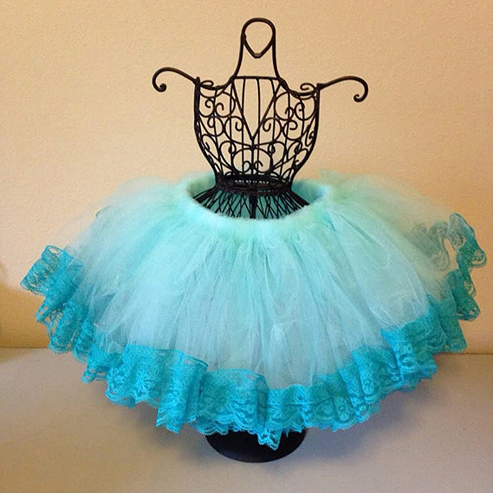 Oncefirst Girls Layered Tiered Lace Dress Princess Tutu Tulle Skirt