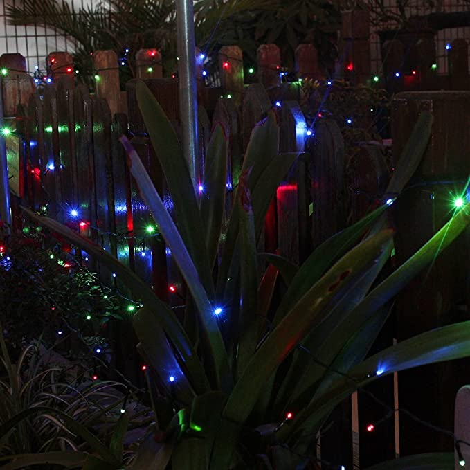 [Upgraded]Multi-Color 65Ft Long 200 LED Outdoor String Lights Solar Powered Waterproof Starry Fairy Lighting Christmas Decoration Flashing Light for Patio ...