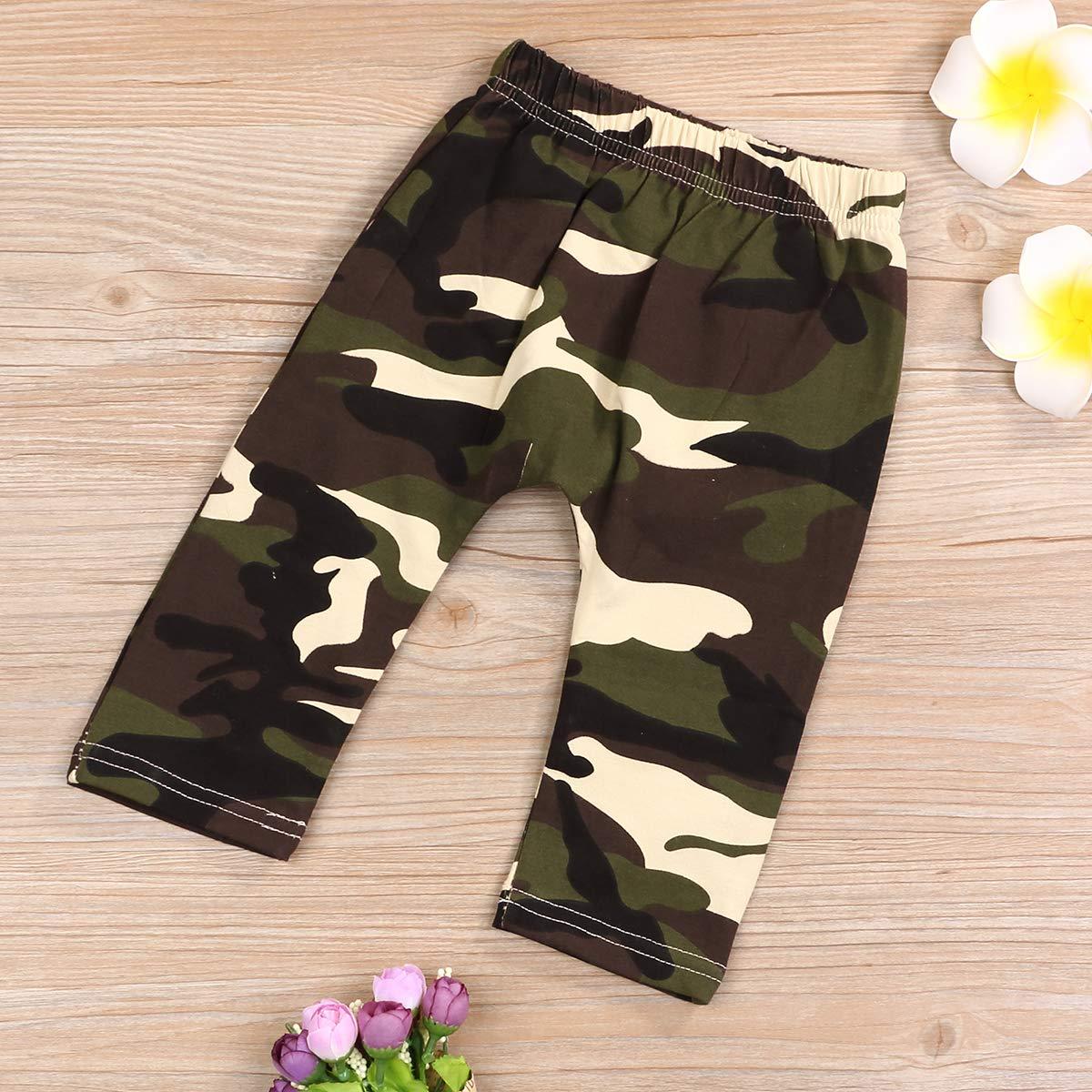 Pantaloni Cappello Neonato Body Outfit Set Baby Boy Camouflage Set di Abbigliamento Infant Letter Print Pagliaccetto