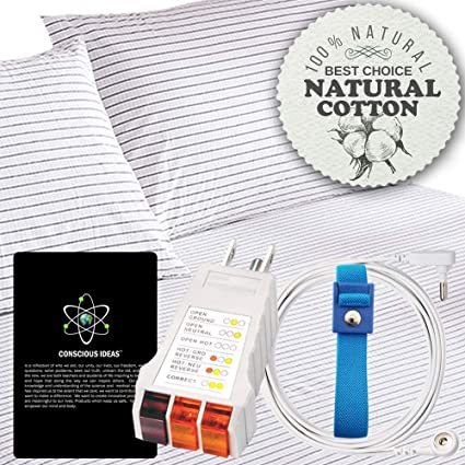 Amazon com: Armshield Earthing Grounded Pillow Case (Strips