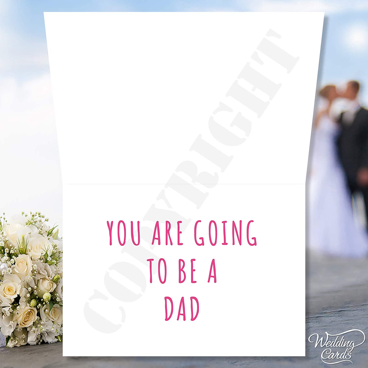 Wedding Cards Test Pregnancy Announcement Card You are going to be a Dad text can be personalised