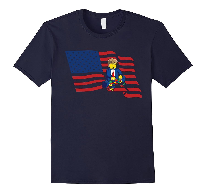 Trump Funny T-Shirt Build a Wall Tees-TD