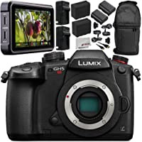 "Panasonic Lumix DC-GH5S Mirrorless Digital Camera (Body Only) + Atomos Ninja V 5"" 4K HDMI Recording Monitor 10PC Bundle – Includes 64GB SD Memory Card + MORE - International Version (No Warranty)"
