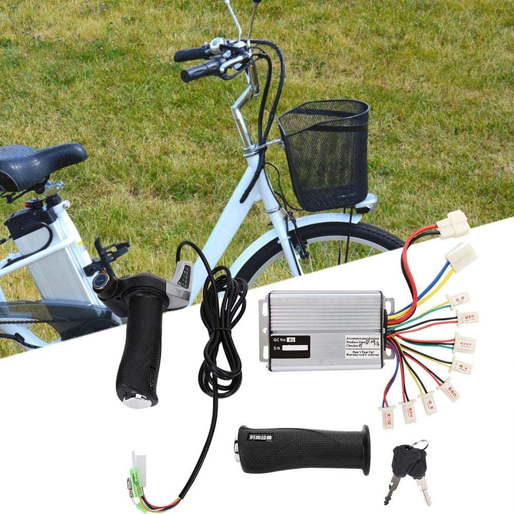 Alomejor 1000W Motor Brushed Controller with Throttle Twist Grips Display for Electric Bike Tricycle Scooter