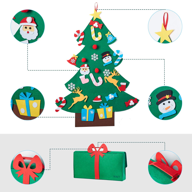 N&T NIETING DIY Felt Christmas Tree Set with 26pcs Detachable ...