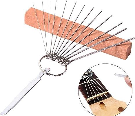 13er Gitarre Schleifen Nadeln Brücke Sattel Feile Schleifwerkzeug Sattelfeilen