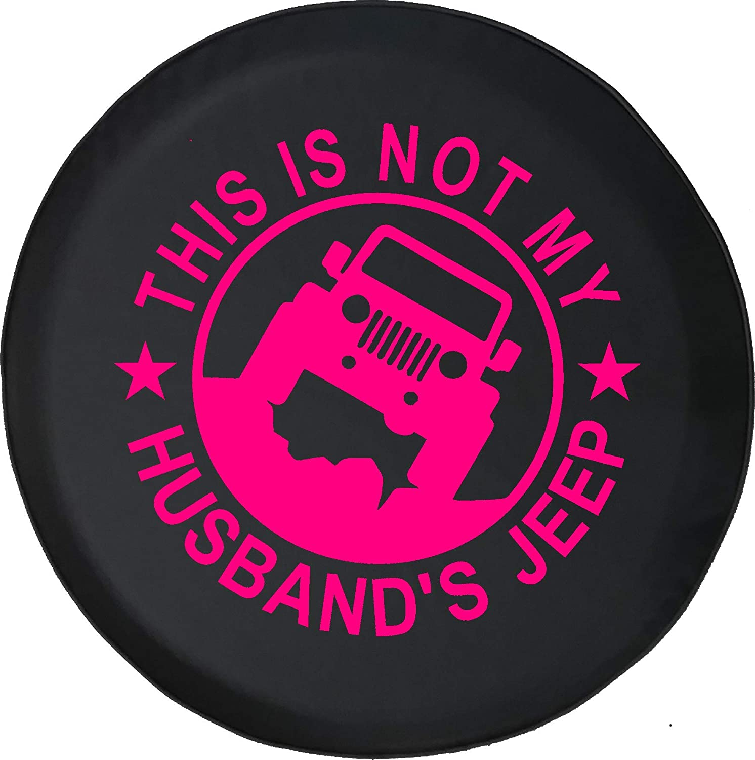 Jeep Tire Cover for Spare Tire This is NOT My Husbands Jeep Girl Ladies Wrangler Black 33 Inch