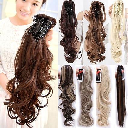 S-noilite - 60cm Extensión de cabello, cola de caballo, Peluca Cola de