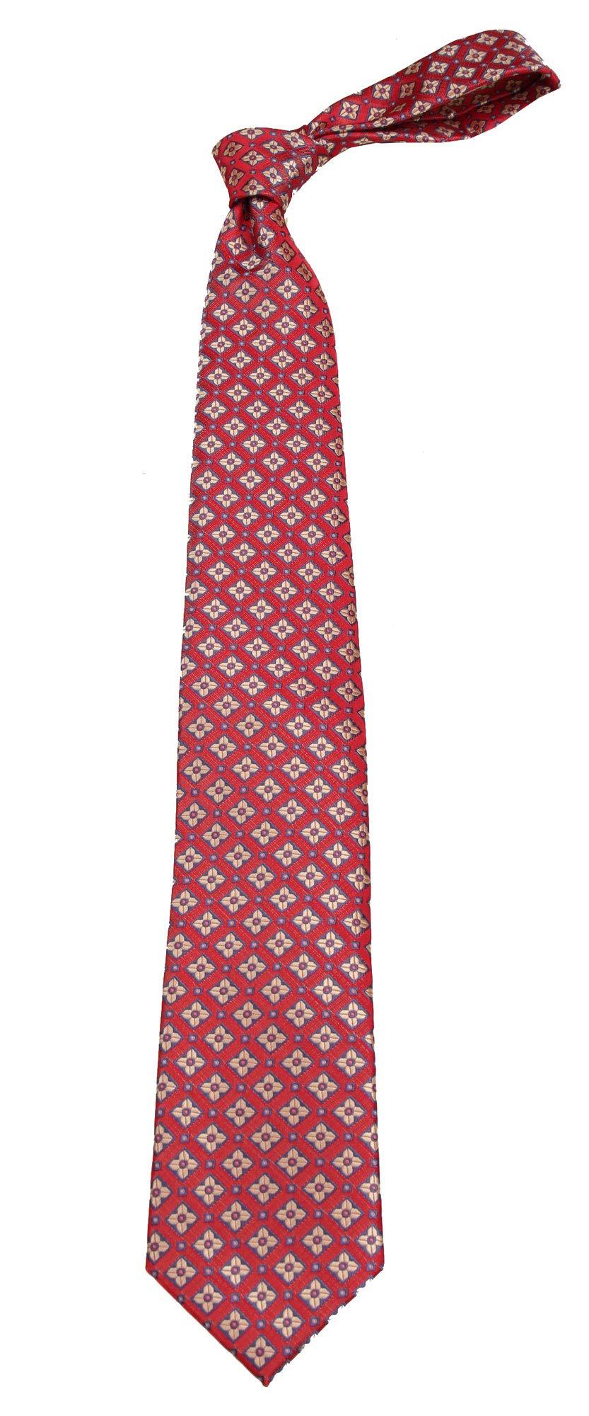 Boys Youth Red Pattern Designer Necktie Ties