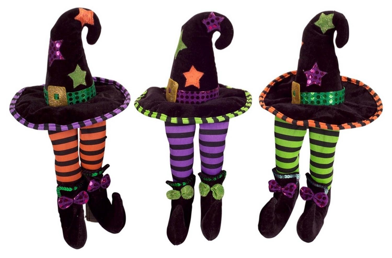 Club Pack of 12 Decorative Plush Witch Hat Shelf Sitters Halloween Figure 13''