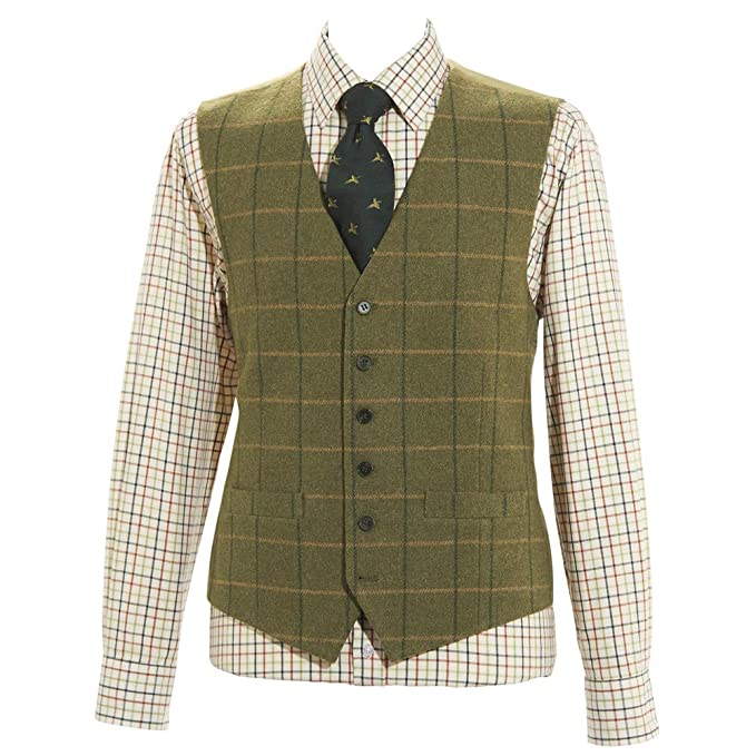 1920s Men's Fashion UK | Peaky Blinders Clothing Samuel Windsor Mens Tweed Waistcoat £39.00 AT vintagedancer.com