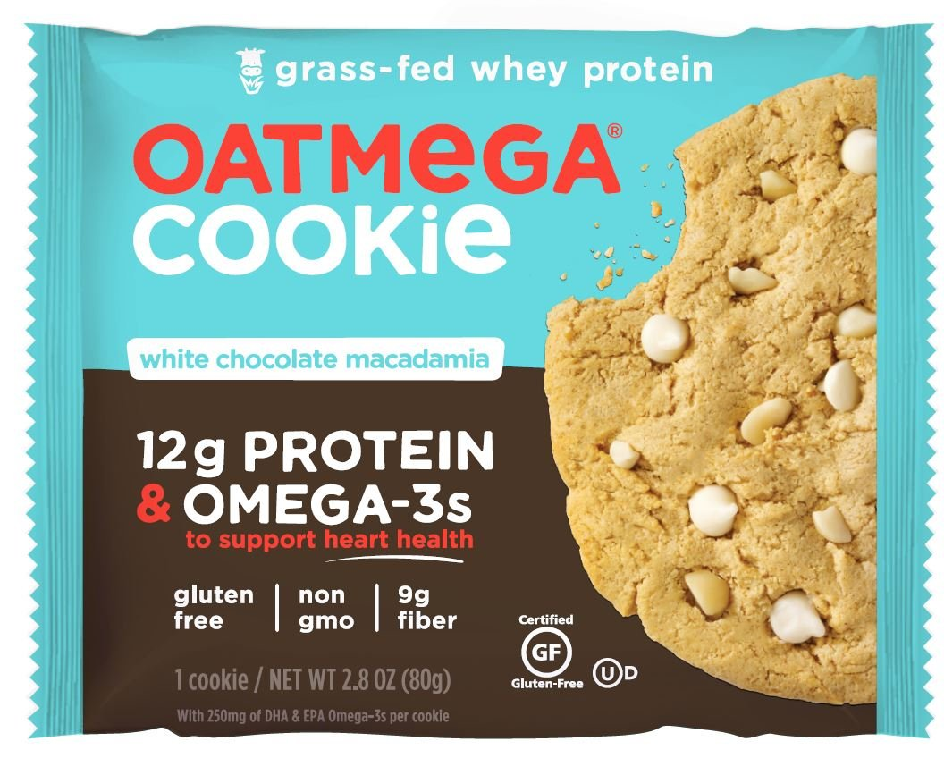 Oatmega Protein Cookie, White Chocolate Macadamia, 2.8 Ounce, 12 Count